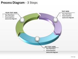 process diagram with 3 steps ppt slides diagrams templates powerpoint info graphics