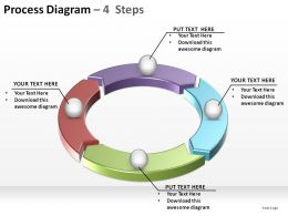 process diagram with 4 stepss ppt slides diagrams templates powerpoint info graphics