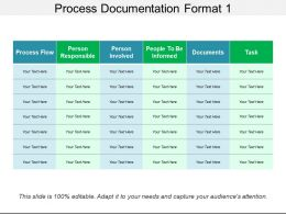 Process Documentation Format 1 Ppt Design