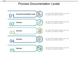 Process Documentation Levels Ppt Powerpoint Presentation Portfolio Model Cpb