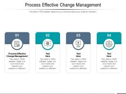 Process Effective Change Management Ppt Powerpoint Presentation Professional Guidelines Cpb