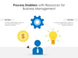 Process Enablers With Resources For Business Management