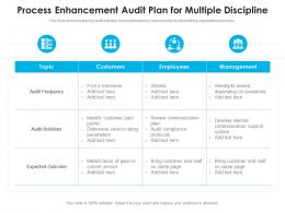 Process Enhancement Audit Plan For Multiple Discipline