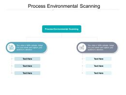 Process Environmental Scanning Ppt Powerpoint Presentation Influencers Cpb