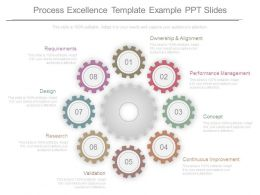 Process Excellence Template Example Ppt Slides