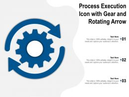 Process Execution Icon With Gear And Rotating Arrow