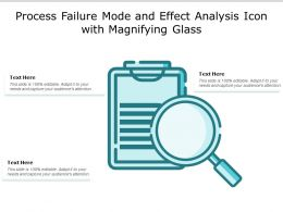 Process Failure Mode And Effect Analysis Icon With Magnifying Glass