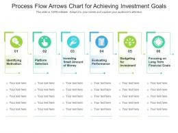 Process Flow Arrows Chart For Achieving Investment Goals
