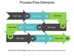 Process Flow Elements Ppt Example Professional