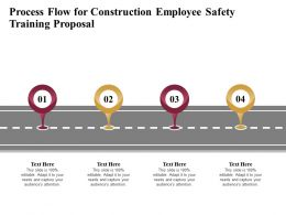 Process Flow For Construction Employee Safety Training Proposal Ppt Demonstration