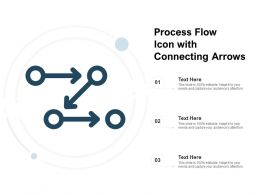 Process Flow Icon With Connecting Arrows