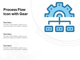 Process Flow Icon With Gear