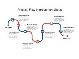 Process Flow Improvement Steps Ppt Infographic Template