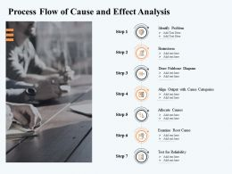 Process Flow Of Cause And Effect Analysis M2908 Ppt Powerpoint Presentation Inspiration