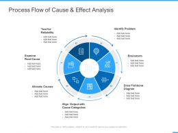 Process Flow Of Cause And Effect Analysis Ppt Powerpoint Presentation Gallery Layouts