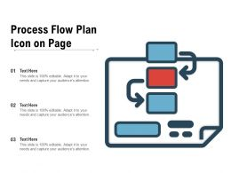 Process Flow Plan Icon On Page