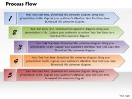 Process Flow PowerPoint Template Slide