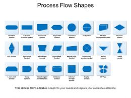 Process Flow Shapes Presentation Background Images
