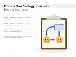 Process Flow Strategy Icon With People Incharge