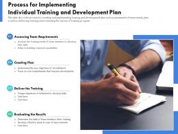Process For Implementing Individual Training And Development Plan