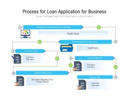 Process For Loan Application For Business