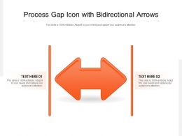 Process Gap Icon With Bidirectional Arrows