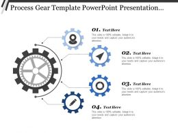 Process Gear Template Powerpoint Presentation Templates