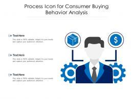 Process Icon For Consumer Buying Behavior Analysis