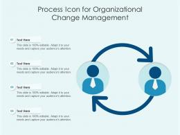 Process Icon For Organizational Change Management