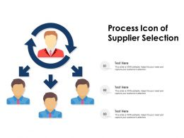 Process Icon Of Supplier Selection