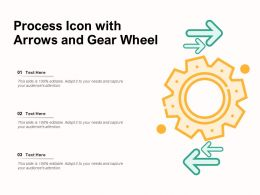 Process Icon With Arrows And Gear Wheel