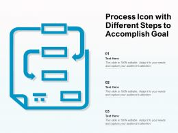 Process Icon With Different Steps To Accomplish Goal