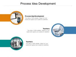 Process Idea Development Ppt Powerpoint Presentation File Design Ideas Cpb