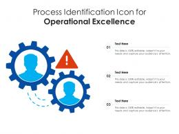Process Identification Icon For Operational Excellence