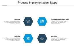 Process Implementation Steps Ppt Powerpoint Presentation Layouts Inspiration Cpb