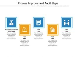 Process Improvement Audit Steps Ppt Infographic Template Background Images Cpb
