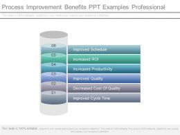 Process Improvement Benefits Ppt Examples Professional