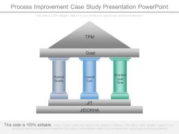 Process Improvement Case Study Presentation Powerpoint