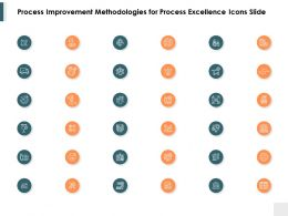 Process Improvement Methodologies For Process Excellence Icons Slide Ppt Powerpoint Format