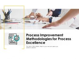 Process Improvement Methodologies For Process Excellence Ppt Powerpoint Presentation Ideas