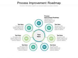 Process Improvement Roadmap Ppt Powerpoint Presentation Show Outline Cpb