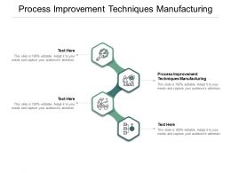 Process Improvement Techniques Manufacturing Ppt Powerpoint Presentation Summary Templates Cpb