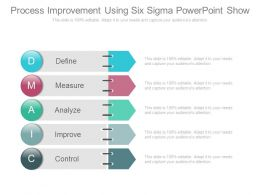 Process Improvement Using Six Sigma Powerpoint Show