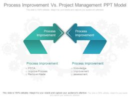 Process Improvement Vs Project Management Ppt Model