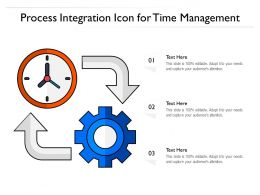 Process Integration Icon For Time Management