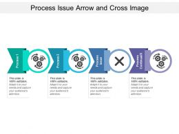 Process Issue Arrow And Cross Image