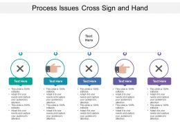Process Issues Cross Sign And Hand