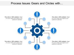 Process Issues Gears And Circles With Exclamation Signs