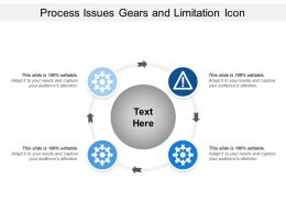 Process Issues Gears And Limitation Icon