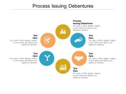 Process Issuing Debentures Ppt Powerpoint Presentation Layouts Maker Cpb